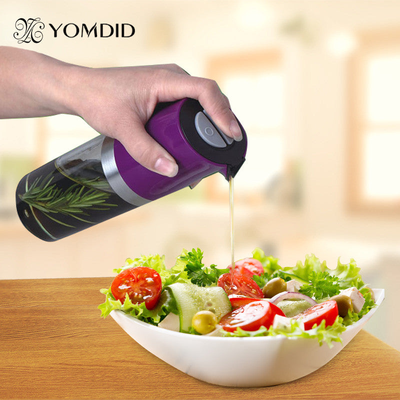 2 Way Use Plastic Spice Bottle Oiler Soy Sauce Bottle Pot of Vinegar Spice Jar Oil Bottle