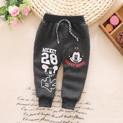 Cartoon Style Warm Baby Winter Pants