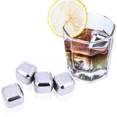 Whiskey Stainless steel Stones ice cooler for Whiskey beer Bar household 5 pcs