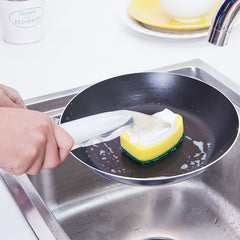 Dishes Cleaning Sponge Brush Detachable Handle Bowl Pan Cleaning Brushes