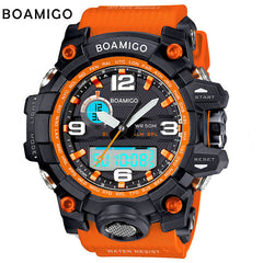 BOAMIGOmen sports watches dual display analog digital LED Electronic quartz watch
