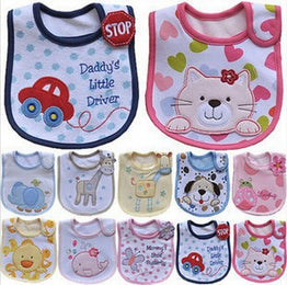 Beautiful Cute Cotton Cartoon Pattern Toddler Baby Waterproof Saliva Towel