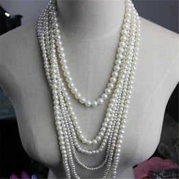 Fashion Popular White Pearl Necklace
