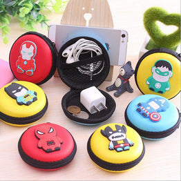 Super Heroes Mini Storage Organizer / Silicone Coin Purse / Key Wallet