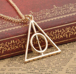 Trendy Triangle Pendant Long Chain Necklace for Girls