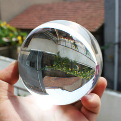 Glass Clear Round Artificial Crystal Healing Ball Sphere Decoration 100mm