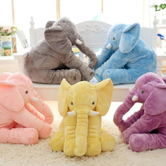 Baby Elephant Design Stuffed Pillow