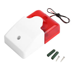 Siren Sound Alarm Flashing Red Light Home Security Alarm System 1set