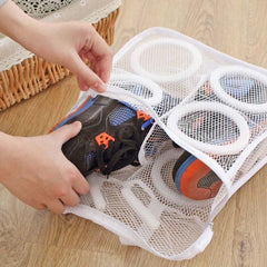 1 Pc Nylon Laundry Bag Shoes Support Storage Organizer Mesh