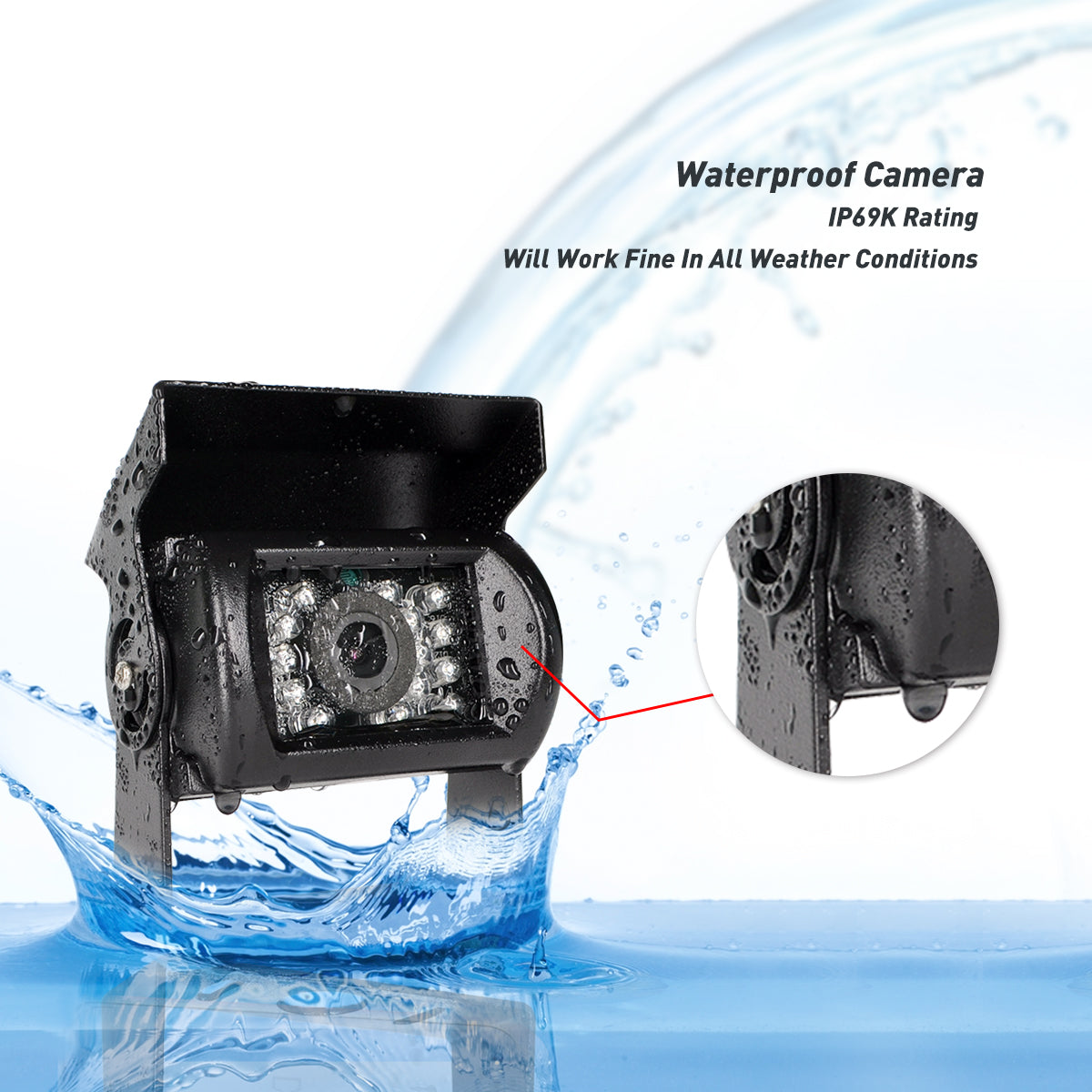 Waterproof backup camera