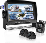 Backup Camera System with 9'' Large Monitor and DVR for RV semi Box Truck Trailer Rear