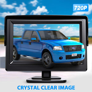License plate backup camera with 4.3 inch display for pickup truck SUV rear view camera