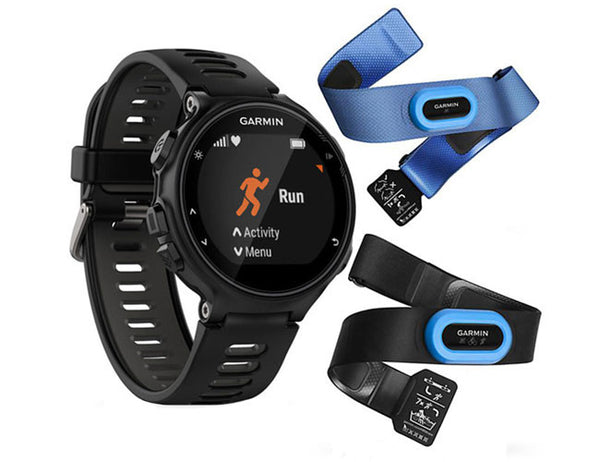 Forerunner 735 XT Black and Grey Tri - Bundle