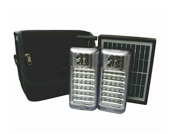 UltraTec 2 Piece Camping LED Kit AC/DC With Solar Panel