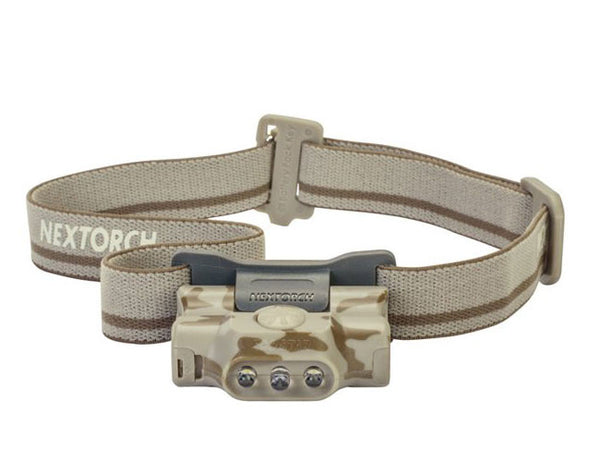 NexTorch 2XAAA, 30 Lumen Eco-Star Head Lamp Camo