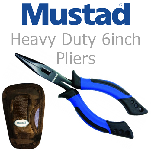 "Mustad Heavey Duty 6"" Pliers with Sheath"
