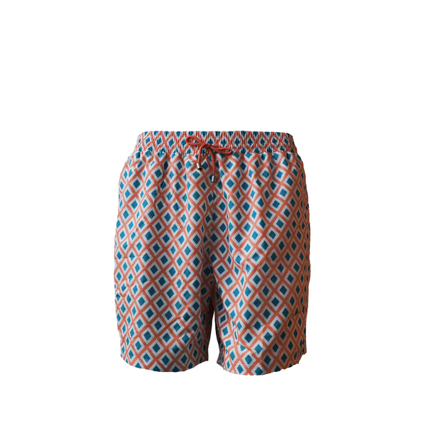 swim, boy, gentleman, men swimwear, orange swim short, traje de baño de rombos, bañador de rombos, rombos, diamonds, diamonds swim short, rombos naranjas, orange swim wear, chico, hombre, bañador, traje de baño,
