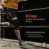 New York running with KINETIC's Copper Knee Compression Sleeve