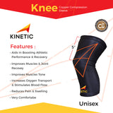 Athlete's Features with KINETIC's Copper Knee Compression Sleeve
