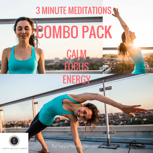 3 Minute Meditations: Combo Pack