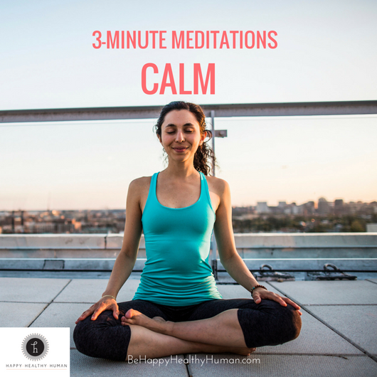 3 minute meditations: Calm pack