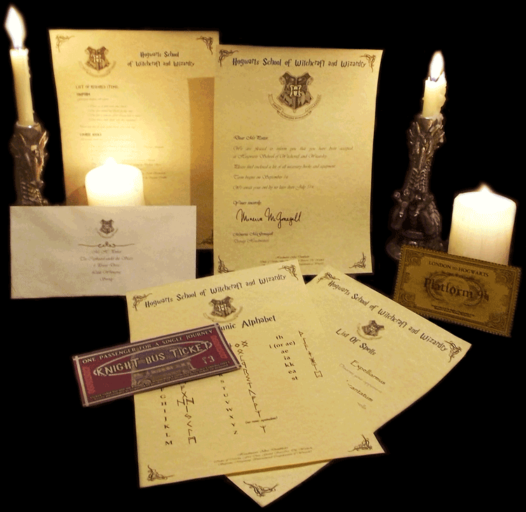 PERSONALIZED Hogwarts Acceptance Letter Amp Express Ticket