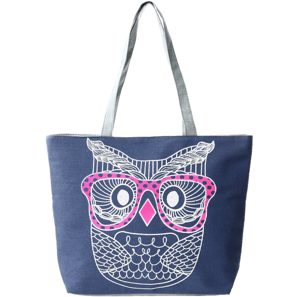 Fashion Prints Large Canvas Beach Tote Bag