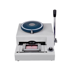 TMS 72 character Letters Manual Embosser Credit Id PVC Card VIP Embossing Machine
