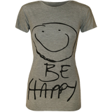 Women's Be Happy Smiley Face Top