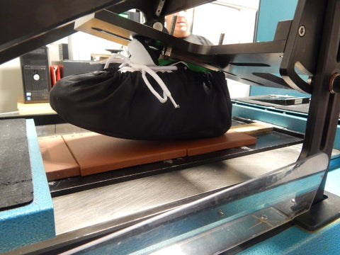 Non skid shoe covers testing