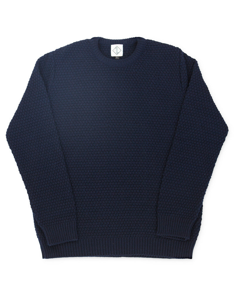Fishermans Moss stitch | Navy