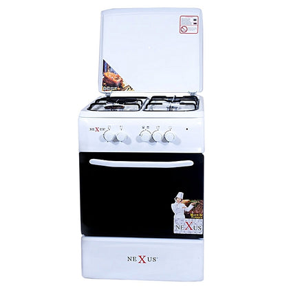 Nexus 4-Burner Gas Cooker - GCCR-NX-5055W (3 + 1)