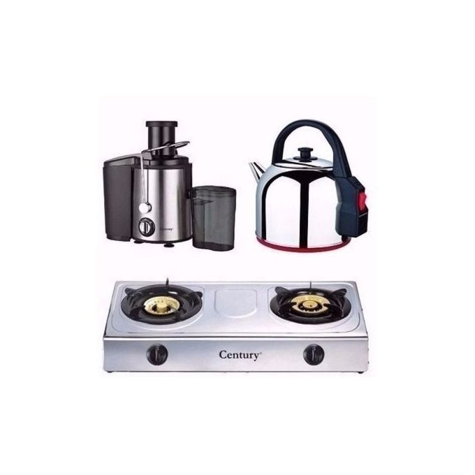 Century Juice Extractor, Kettle & Gas Stove Bundle