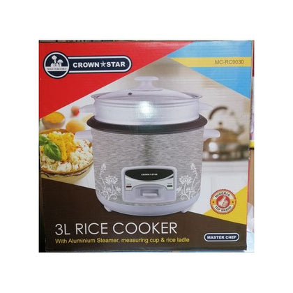 Master Chef Multifunctional Rice Cooker & Deep Fryer 3Litre
