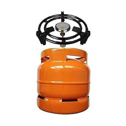 6kg Gas Cylinder With Anti-rust Cast Sitter & Burner