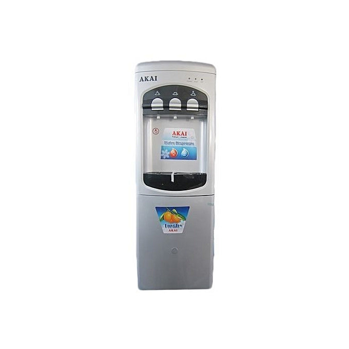 AKAI Water Dispenser With Fridge+Cold/Hot/Warm Taps
