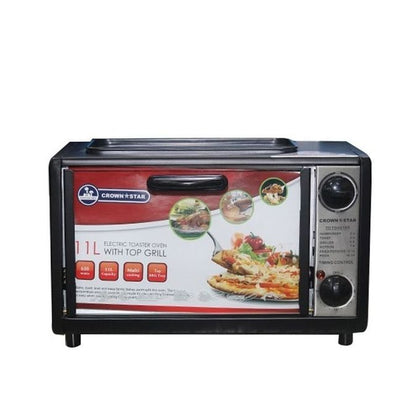 Crownstar 11 Liters Electric Oven With Top Grill Function - buktops.com