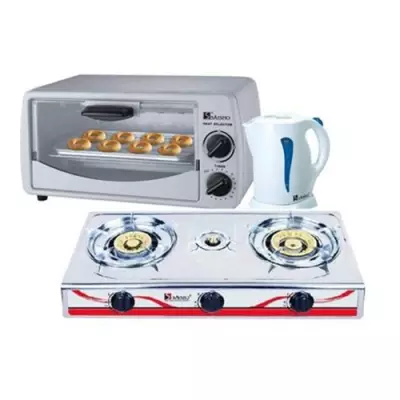 Gas Stove + Oven & Jug Bundle