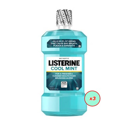 Listerine Spearmint Mouth Wash 250ml Pack Of 3 - buktops.com
