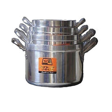 Tower Cooking Pot Set 4 Pieces - Silver