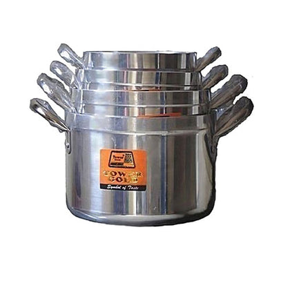 Tower Cooking Pot Set 4 Pieces - Silver - buktops.com