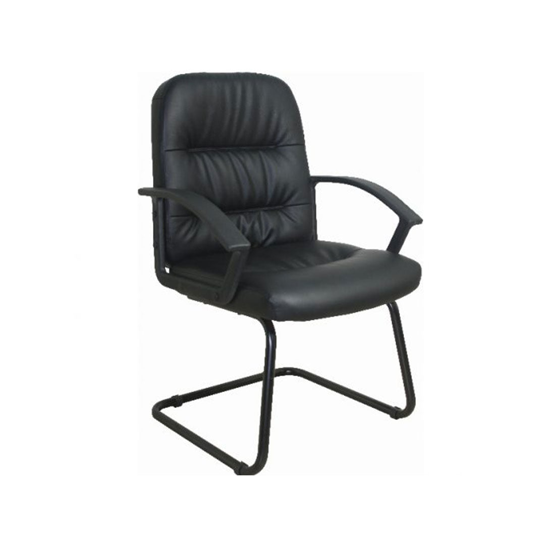 Visitor Office Chair Black Leather