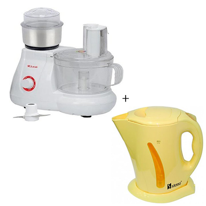 Rico Yam Pounder - White + Saisho Electric Jug Bundle