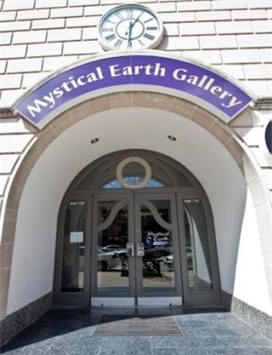 Mystical Earth Gallery entrance on College Avenue, Appleton, Wisconsin