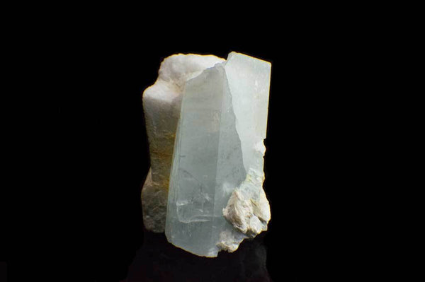Aquamarine Crystal on Feldspar Matrix (Front View) for $189.95 at Mystical Earth Gallery
