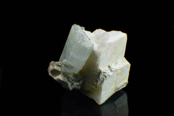 Aquamarine Crystal on Feldspar Matrix (Side View #1) for $189.95 at Mystical Earth Gallery