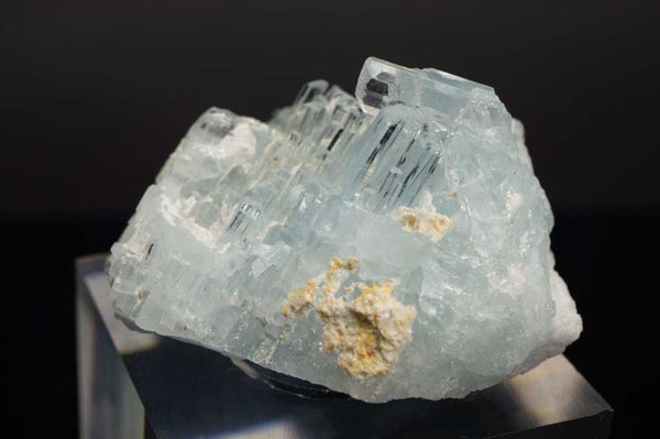Aquamarine Cluster with Scattered Albite (Close Up View #6) for $159.99 at Mystical Earth Gallery