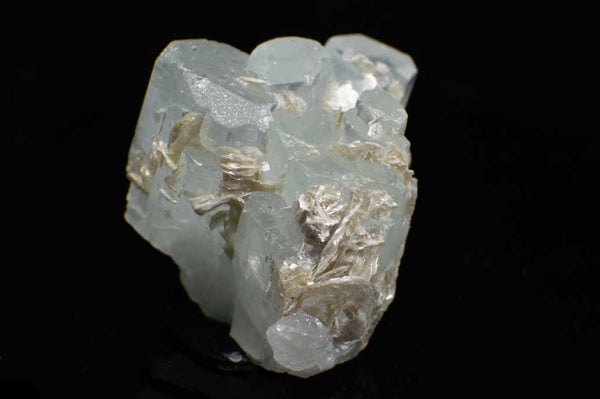 Aquamarine Cluster with Muscovite Mica (Front View #2) for $224.99 at Mystical Earth Gallery