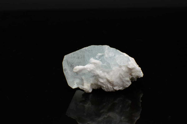 Aquamarine Crystal with Black Tourmaline and Creamy-White Albite Sheaves (Laying Flat View #3) for $189.99 at Mystical Earth Gallery