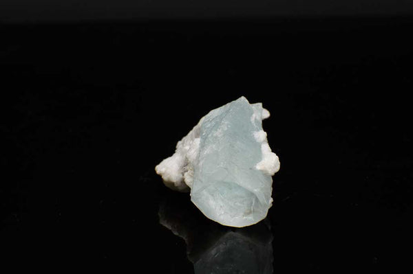 Aquamarine Crystal with Black Tourmaline and Creamy-White Albite Sheaves (Laying Flat View #4) for $189.99 at Mystical Earth Gallery